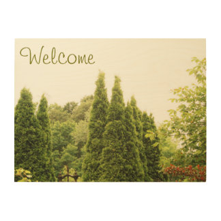 "Welcome 24""x18"" Wood Wall Art Wood Canvas"