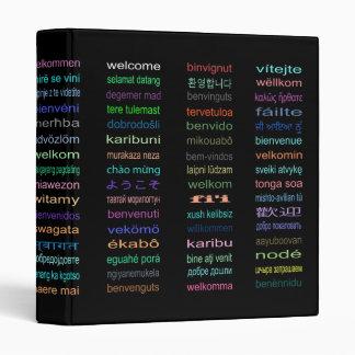 "Welcome: 80 Languages 1"" Binder"