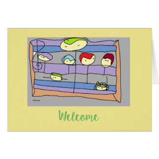 Welcome a new co-worker with a Drawlings' card! Card