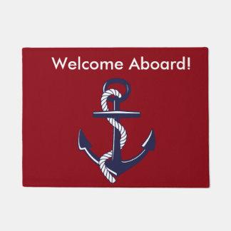 Welcome Aboard Door Mat