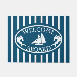 Welcome Aboard VS Nautical Doormat