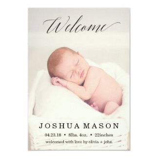 Welcome Baby Birthday Announcement