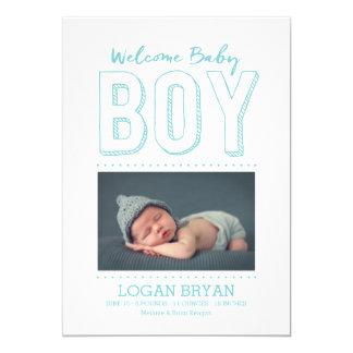 Welcome Baby Boy | Birth Announcement