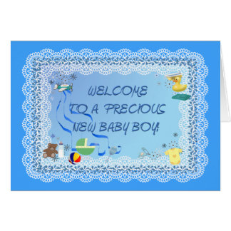 WELCOME BABY BOY!   ~ Card