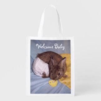 Welcome Baby Bunny Bag