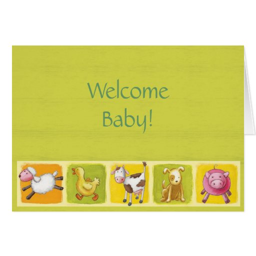 Welcome Baby! Card | Zazzle