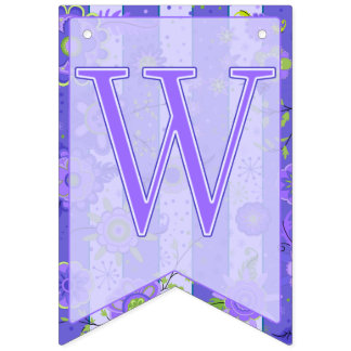 Welcome Baby Elephant Flowers Purple Swallowtail Bunting Flags