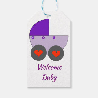 welcome baby gift tags