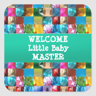 Welcome BABY Master Square Sticker