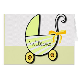 Welcome Baby or Baby Shower Card