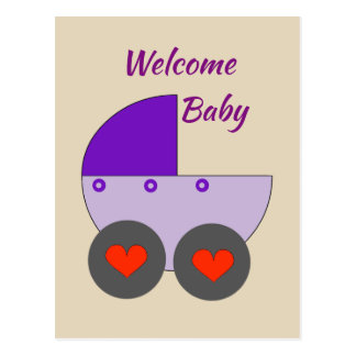welcome baby postcard