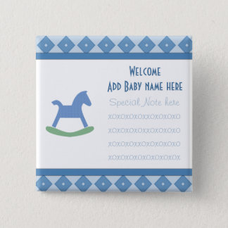 Welcome Baby Rocking Horse Button