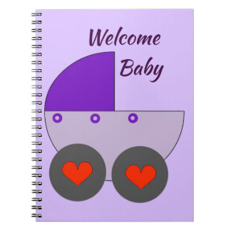 welcome baby spiral notebook