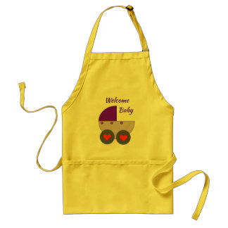 welcome baby standard apron
