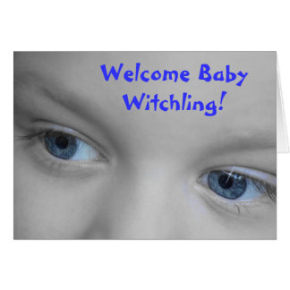 Welcome Baby Witchling - Wiccan New Baby Card