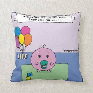 Welcome Baby Xici Throw Pillow