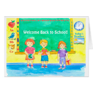 Welcome Back To School Classroom Kids Card