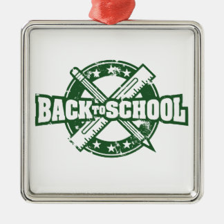 Welcome Back To School Metal Ornament