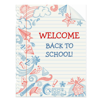 Welcome Back to School Postcard