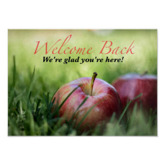 Welcome Back to Students Poster