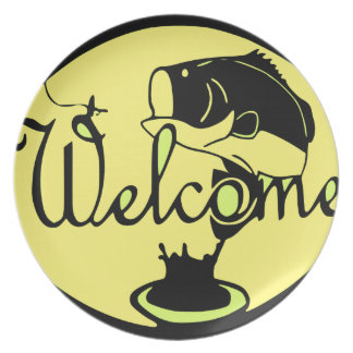 Welcome Bass Party Plates