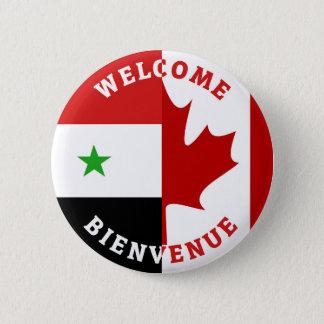 Welcome Bienvenue Syrians 2 Inch Round Button