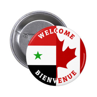 Welcome Bienvenue Syrians 2 Inch Round Button