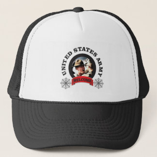 welcome boys trucker hat
