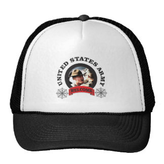 welcome boys trucker hat