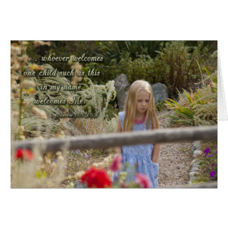 Welcome Child Thank You Greeting Card