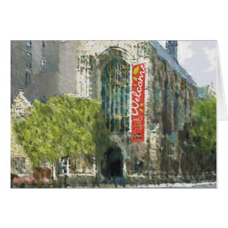 Welcome Church Watercolor Greeting Card