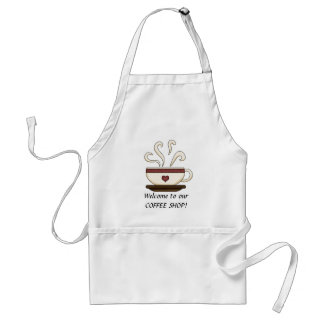 Welcome coffee shop apron
