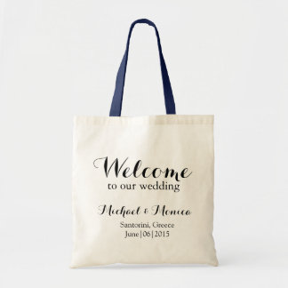 Welcome Custom Wedding Hotel Gift Tote Bag