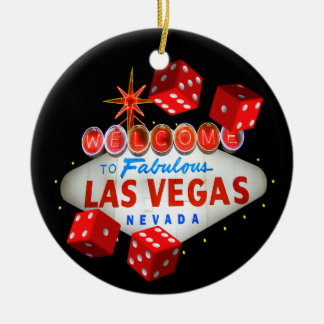 Welcome Dice Las Vegas Ornament