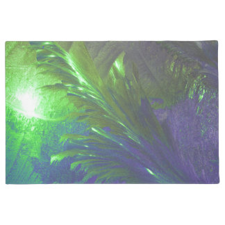 welcome door mat abstract green purple