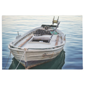 welcome door mat  Lake fishing boat