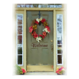 Welcome Door New Home Just Moved Postcard