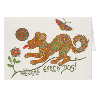 Welcome Earth Dog card