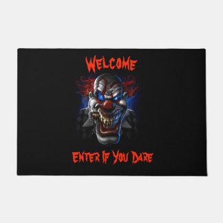 Welcome Evil Blue Eyed Clown Doormat