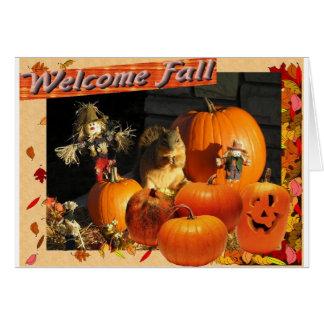 Welcome Fall Card