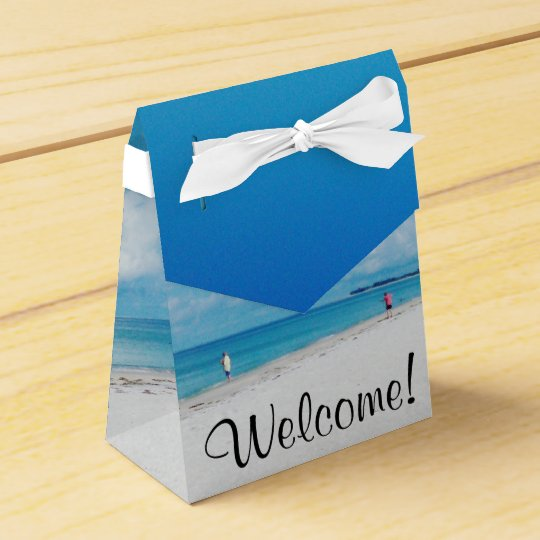 """Welcome"" Favour Box Wedding Favor Box"