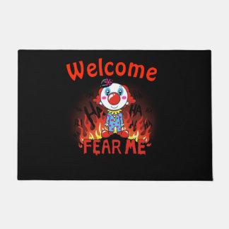 Welcome Fear Me Clown Doormat