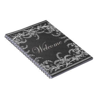 Welcome Flower and Leaf Chalkboard Notebooks