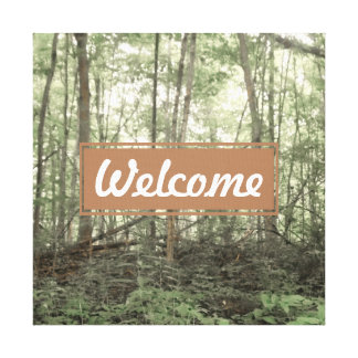 Welcome Forest Canvas Decoration