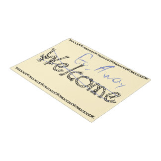 Welcome - Go Away Mat