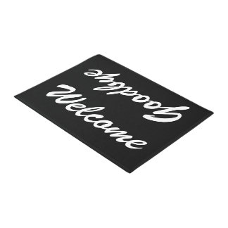 WELCOME GOODBYE doormat | Black and white