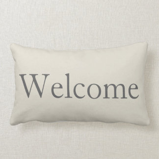 Welcome Guest Bedroom Lumbar Pillow Decor