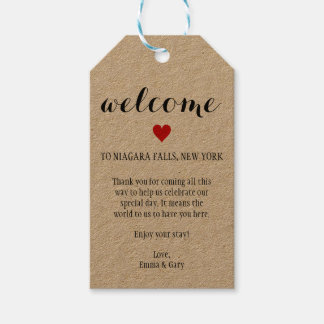 Welcome Guests Destination Wedding Tag Pack Of Gift Tags