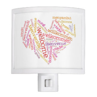 Welcome Heart (many languages) Night Light