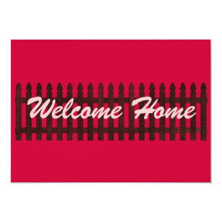 "Welcome Home 5"" X 7"" Invitation Card"